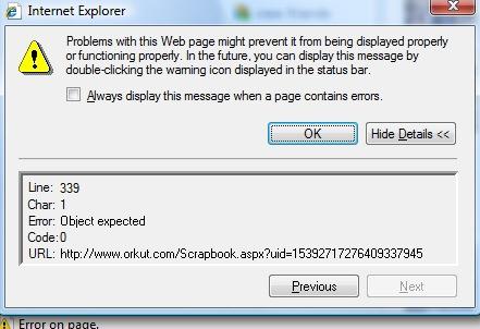 Orkut error