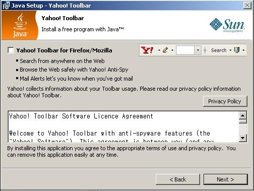 JDK Yahoo Toolbar